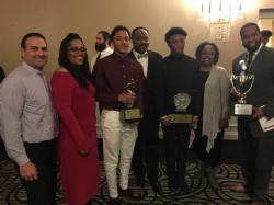 Donovan Bunch and Prince-Dru Bey honored by Brooks-Irvine Memorial Football Club